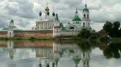 Christian monastery in Rostov the Great, Russia. Stock Footage