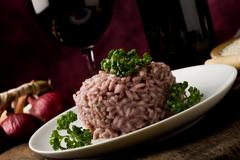 risotto with red wine - stock photo