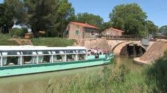 Canal du Midi, France - stock footage