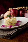 risotto with red onions - stock photo