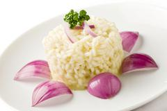 Risotto with red onions Stock Photos