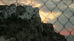 Sunset Timelapse (Peschici Landscape) Stock Footage