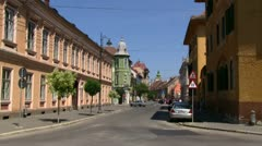 Hermannstadt strasse Stock Footage