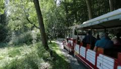 Toursit Train Nature Stock Footage