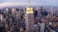 Stock Video Footage of Aerial view Central Park, East and West side Manhattan,   New York, USA