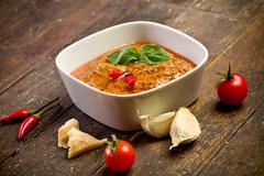 Sicilian pesto with chili Stock Photos