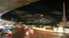 Lights on at night. In the city the car is running. Bangkok,Thailand Stock Footage
