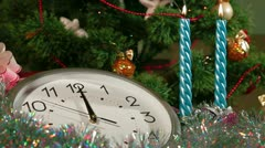Ticking Christmas Clock Stock Footage