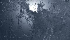 High Speed 1050fps slomo water splash 05 Stock Footage