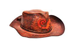 leather hat - stock photo