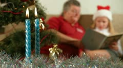 Reading Christmas Stories - stock footage