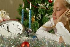 Christmas Coming Stock Footage