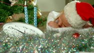 Christmas Child Sleeping Stock Footage