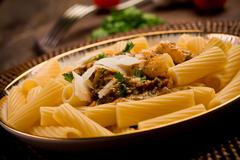 pasta with sicilian pesto - stock photo