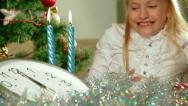 Christmas Child Stock Footage