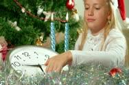 Christmas Clock Stock Footage