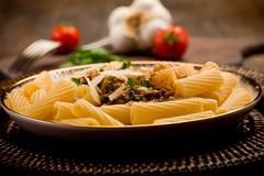 pasta with sicilian pesto - stock photo