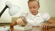 Child Playing Puzzle Stock Footage