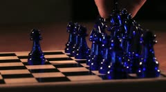 Chess Game - Close Up Moves 3 HD Stock Footage