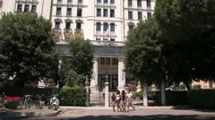 Famous hotel at Lido in Venice Stock Footage