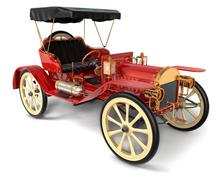 antique car 1910 - stock photo