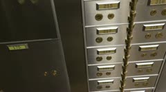 Safety deposit box bank Stock Footage
