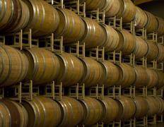 barrel room horizontal - stock photo