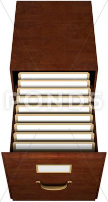 Stock photo of file drawer