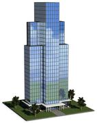 Modern hi-rise corporate office building Stock Illustration