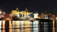 Bangkok Port Terminal for shipping and logistic Stock Footage