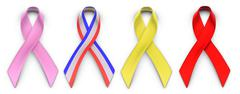 Ribbons for causes Stock Photos