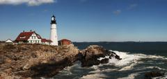portland head lighthouse - stock photo
