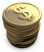 Stacked coins Stock Illustration