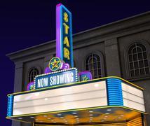 movie theatre - stock illustration