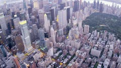 Aerial view Central Park, East Manhattan, New York, USA,  Stock Footage