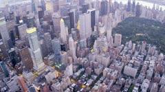 Ilmakuva Central Park, East Manhattanilla, New York, USA, Arkistovideo