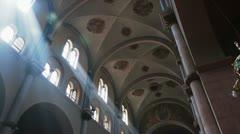 Church light beams Stock Footage