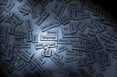 Magnetic words Stock Photos