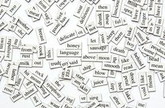 Stock Photo of assorted magnetic words