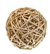Woven wicker balls Stock Photos
