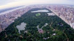 Ilmakuva Central Park, Manhattan, New York, USA, Arkistovideo