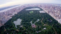 Aerial view Central Park, Manhattan, New York, USA,  Stock Footage