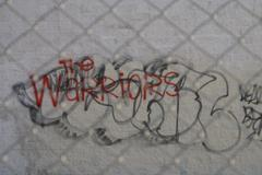 Urban Blight Wall Graffiti Street Style Background - stock photo