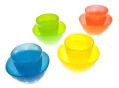 Stock Photo of plastic cups