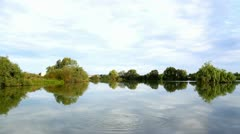 Landscape of a calm lake Stock Footage