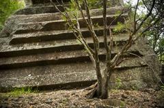 sawn rocks - stock photo