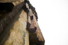 sawn rocks isolated - stock photo