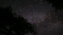 Lassen Timelapse Astrophoto 07 Milky Way Stock Footage