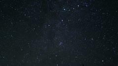 Mt Shasta Timelapse Astrophoto 09 Bunny Flat Perseid Meteor shower Stock Footage
