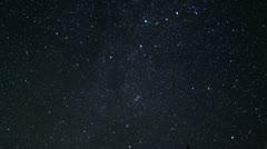 Mt Shasta Timelapse Astrophoto 09 Bunny Flat Perseid Meteor shower - stock footage